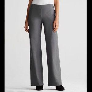 Eileen Fisher Stretch Wide Leg Crepe Petit Pants
